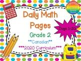 Grade 2 Daily Math Days 1-20