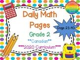 Grade 2 Daily Math Days 21-40