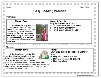 Grade 2 Daily Reading Practice (175 Passages)