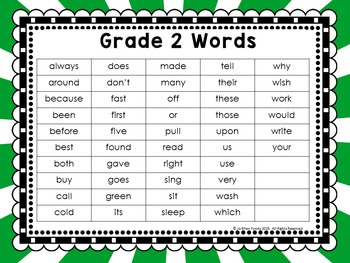 Sight Word Work Grade 2