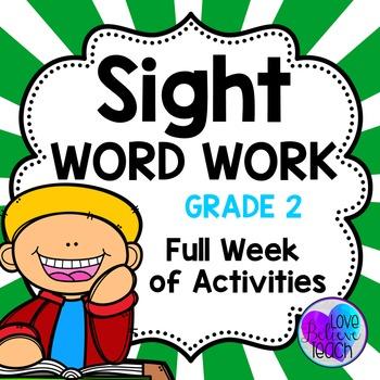 Grade 2 Sight Word Work