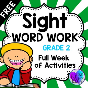 Sight Word Work FREEBIE!