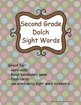 Grade 2 Dolch Sight Words