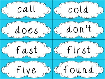 Grade 2 Dolch Sight Words {Blue} - for word walls and games