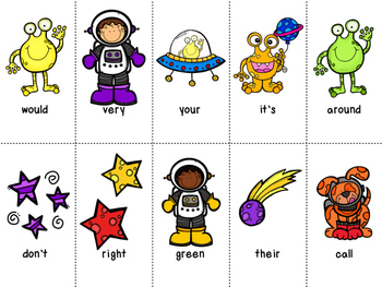 Grade 2 Dolch Word Game - Space Themed