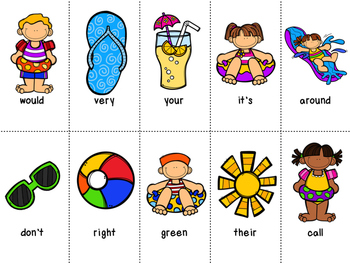 Grade 2 Dolch Word Game - Summer Themed