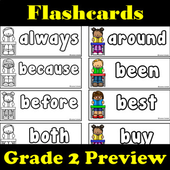 Grade 2 Dolch Words: Word Wall: Word Trace: Dolch Word Flashcards