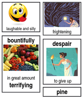 Grade 2: Domain 4: Greek Myths Common Core Vocabulary Image Cards