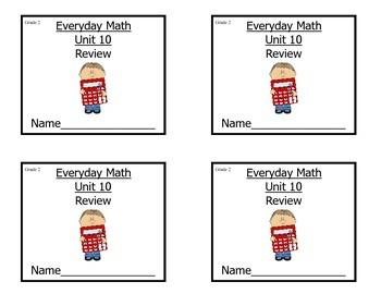 Grade 2 EDM Math Review Unit 10/Study Guide