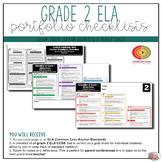 Grade 2 ELA Portfolio Checklists ~ CCSS Overview & Checklists