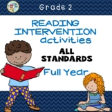 Second Grade  Reading Intervention Activities,  Full Year-