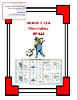Grade 2 ELA Vocabulary SPILL Game (28 pgs.)