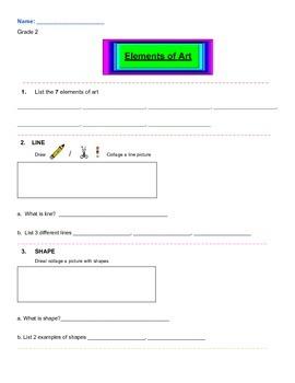 Grade 2 Elements of Art Review