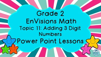 Grade 2 EnVisions Math Topic 11 Common Core Aligned Power Point Lessons