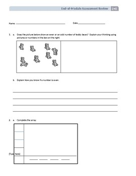 Grade 2 End of Module 6 Review EnagageNY