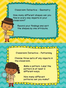 Grade 2 Math Centres Review - Classroom Detectives - Back to school!
