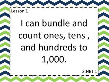 Grade 2 Engage NY Math Module 3 Learning Targets Large Format