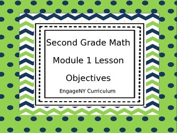 Grade 2 EngageNY Math Module 1 Learning Targets