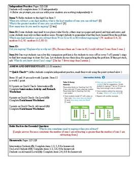 Grade 2 Envision 2.0 Lesson Plan for Volume 1 Topic 6.1