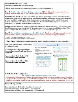 Grade 2 Envision 2.0 Lesson Plan for Volume 1 Topic 6.3