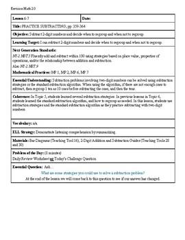 Grade 2 Envision 2.0 Lesson Plan for Volume 1 Topic 6.7