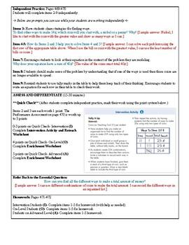 Grade 2 Envision 2.0 Lesson Plan for Volume 1 Topic 8.5