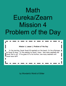 Grade 2, Eureka Math, Mission 4, Problems of the Day