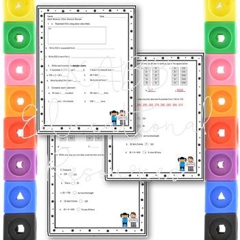 Grade 2  Math Module 3 End Module Reviews.  2 Different Ones!