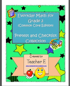 Grade 2 Everyday Math Pretest and Checklist Collection (Units 1-11)