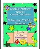 Grade 2 Everyday Math Pretest and Checklist Collection (Un