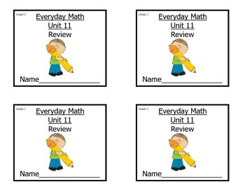 Grade 2 Everyday Math Unit 11 Review/Study Guide