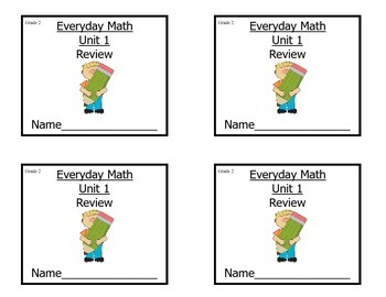 Grade 2 Everyday Math Unit 1 Review/Study Guide