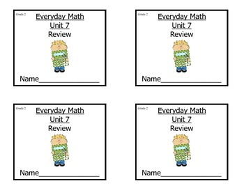 Grade 2 Everyday Math Unit 7 Review/ Study Guide