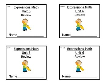 Grade 2 Expressions Math Unit 6 Review/ Study Guide