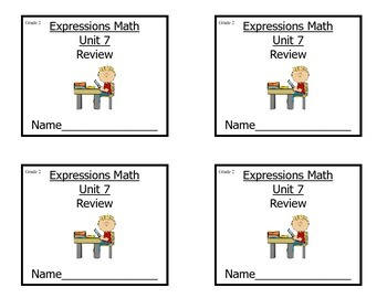 Grade 2 Expressions Math Unit 7 Review/ Study Guide