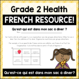 Grade 2 Food Groups Activity (French)