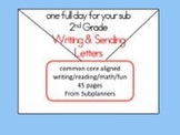 Writing Letters - Common Core Aligned Full Day For Your Sub