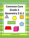 Geometry Grade 2 - Anchor Charts, Classwork, Homework, Sha