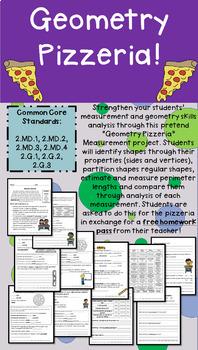 "Grade 2 Geometry Math Enrichment Project - ""Geometry Pizzeria"""