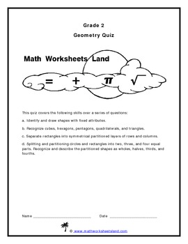 Grade 2 Geometry Quiz
