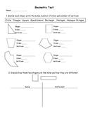 Grade 2 Geometry Test