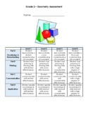 Grade 2 Geometry Test - 2D Geometry, Attributes and Symmetry