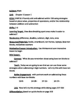 Grade 2 Go Math Chapter 5 Plans