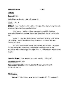 Grade 2 Go Math Lesson Plans chapters 1-11