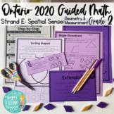 Grade 2 Guided Math: Ontario Geometry (2D, 3D & Transformational)