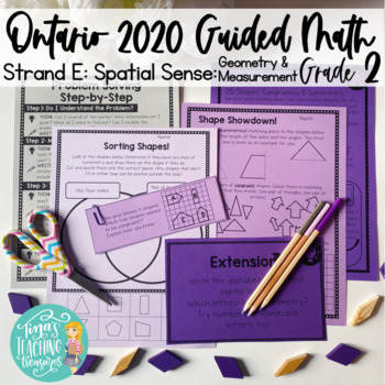 Grade 2 Guided Math: Ontario Geometry (2D, 3D & Transformational)