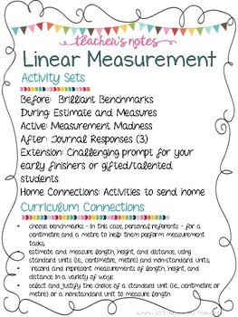 Grade 2 Guided Math: Ontario Measurement