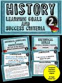 Grade 2 HISTORY – All AC Descriptors Learn Goals & Success Criteria Posters.