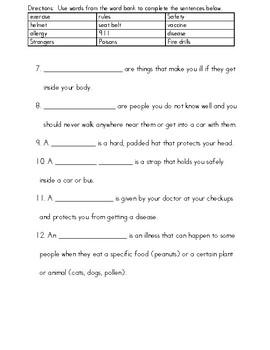 Grade 2 Health Assessment Bundle