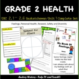 Grade 2 Health - Unit 1 -  USC2.1, 2.2, 2.3, 2.4, 2.5 and 2.6  (Saskatchewan)